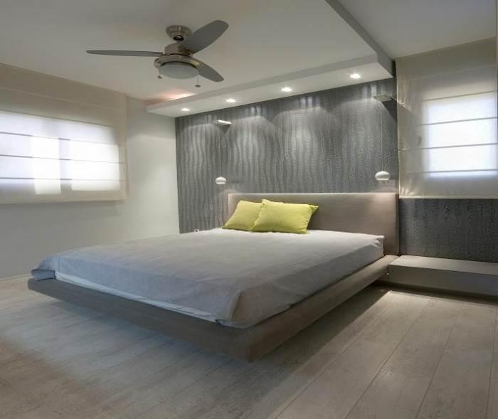 צבעוניות רגועה בחדר השינה וטפט עם טקסטורות משתנות, (צילום:אלעד גונן)
