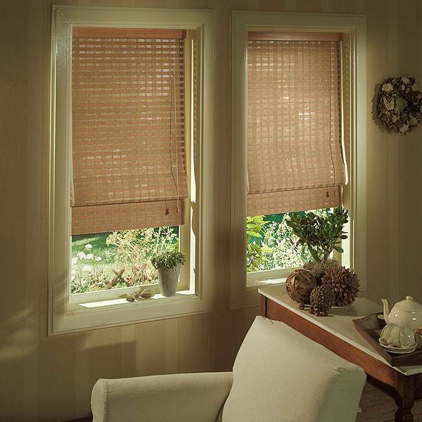 וילונות הבמבוק מעניקים לחלונות מראה עדין , אורגון</br>(צילום:יח