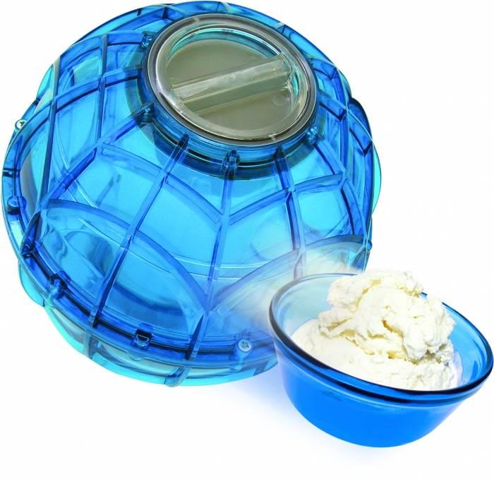 כדור הגלידה מאפשר הכנת גלידה בדרך פשוטה ומהירה ללא סוללות, קירור או צורך בחשמל,להשיג ב: www.CADURGLIDA.com, (צילום: יח