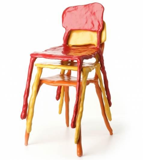 כסאות בעיצובו של המעצב ההולנדי מרטן באס לרגל תערוכת CASA09, (צילום: יח