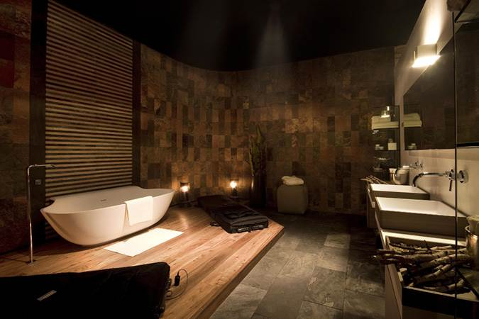 """""""צבעים חמים ורכים כמו חול, נס קפה, עץ, דוגמאות מרומזות ועיצוב הרמוני"""". חדר האמבטיה של רשת mody (צילום: יח""""צ)"""