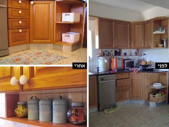 נקיון, סדר, אסתטיקה ופרטי נוי יעניקו למטבח כבמטה קסם מראה משודרג בעלות נמוכה(צילום:הילה ברונשטיין)