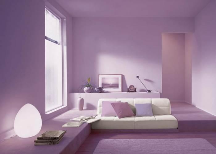 סלון מעוצב בצבע סגול אקרילי של