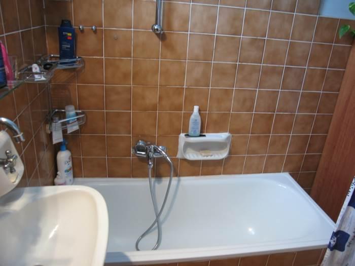 הקרמיקה - לקוחה הישר מהסבנטיז. האמבטיה לפני השיפוץ (צילום: אלון תלמי)