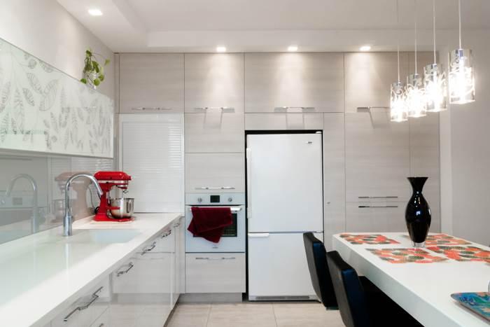 קיר ארונות צדדי בחדר המטבח. לא תאמינו מה נמצא בתוכו
