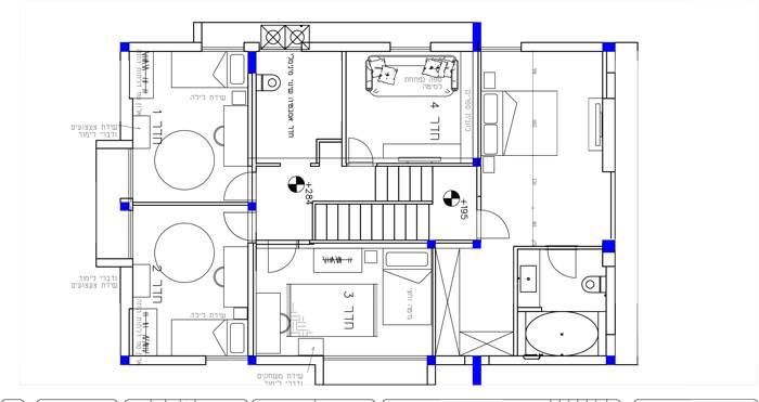 תוכנית השיפוץ של הקומה הראשונה