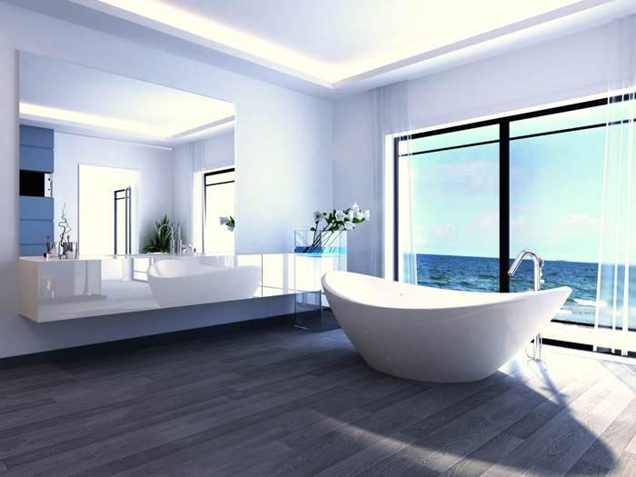 מגמה בזבזנית במרחב דוגלת בהצבת האמבטיה במרכז החדר (צילום: אילוסטרציה)