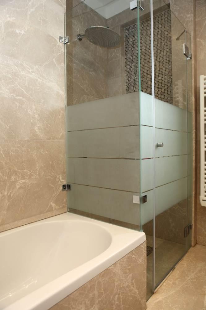 מקלחון בשילוב עם זכוכית חלבית. אידיאלי לדירות שותפים (צילום: יח