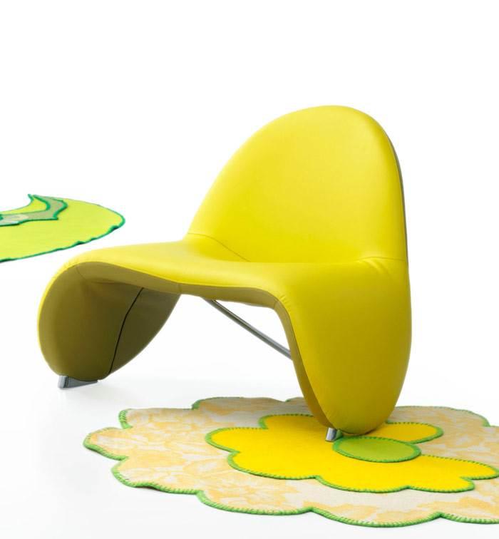 הצהוב הזרחני הנכון בכסא SELLA של חברת LEOLUX. להשיג בפיטרו הכט.