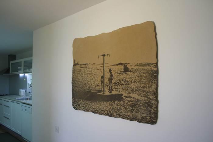 החול כחומר ראשוני עם משמעויות סמליות רבות- עבודה של עדי ברק רוזנברג. צילום: עדי ברק רוזנברג