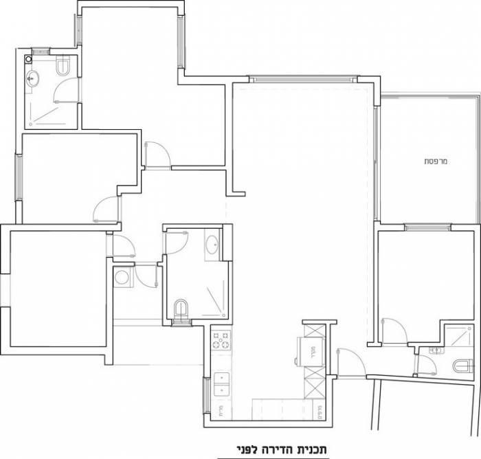 תוכנית הדירה-לפני