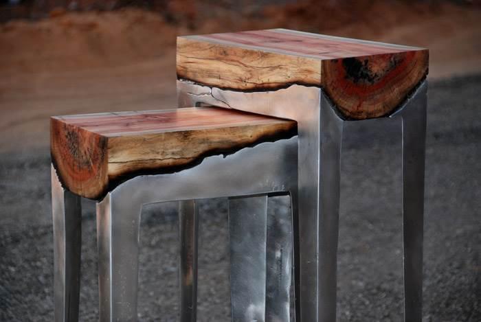 הילה שמיע. Wood Casting. סדרת רהיטי
