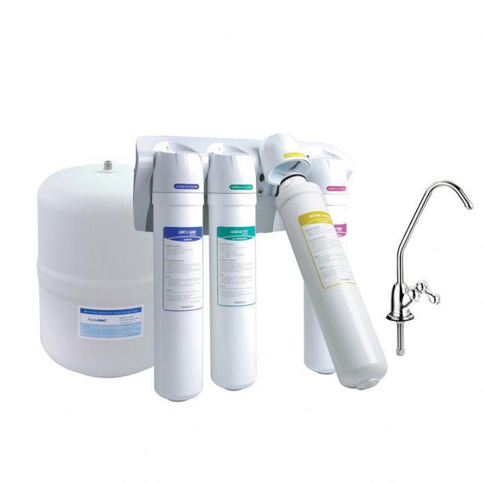 מערכת אוסמוזה הפוכה שמסננת את הרעלים במים - אקוסרוויס. צילום: יח