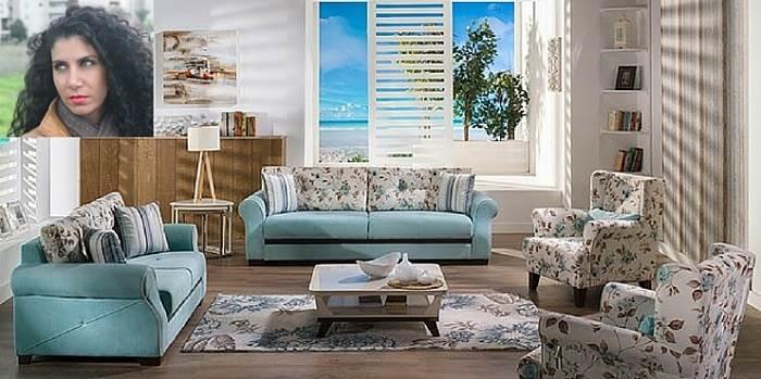 כרמית- לבחור סלון תכלת משקף את האופי של יושבי הבית. (צילום: יחצ אלבור)