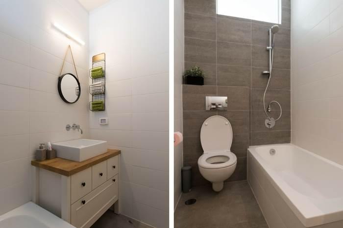 חדר רחצה עם אמבטיה, על מנת שיהיה שימושי לנכדים הקטנים שבאים להתארח בסופי השבוע | צילום: נמרוד סונדרס