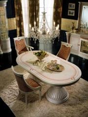 רהיטי מוביליה - פינת אוכל אליפטית