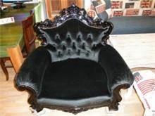 כורסא שחורה מעוצבת - Treemium - חלומות בעץ מלא
