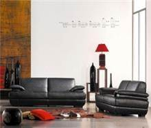 היבואנים - סלון עור שחור 2+3