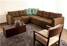 ספה פינתית חומה