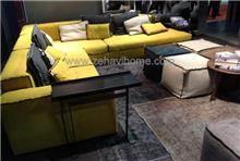 ספה פינתית צהובה