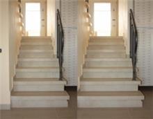 מדרגות בגימור צידי - אומנות הפורצלן
