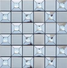 חלמיש  - אריח פסיפס משולב זכוכית
