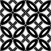 אריח פורצלן עלים שחור-לבן - חלמיש