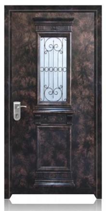 דלת כניסה בגווני שחור חום
