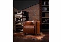 היבואנים - כורסא מעוצבת מעור