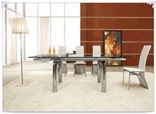 שולחן נפתח מעוצב מזכוכית - היבואנים