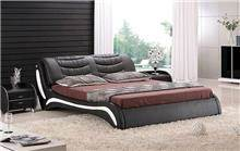 היבואנים - מיטת עור זוגית שחורה