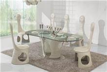 שולחן זכוכית אובלי - היבואנים