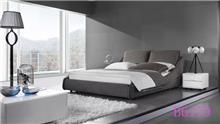 מיטה מרופדת אפורה - היבואנים