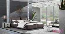 מיטה מרופדת חומה - היבואנים
