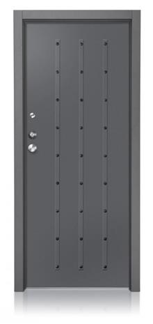 דקור - DECOR - דלת חוץ אפורה