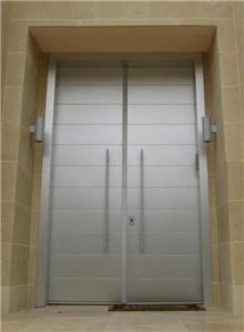 דקור - DECOR - דלת כפולה כסופה
