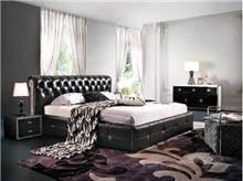 מיטת עור בעיצוב קלאסי