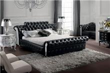 מיטה מעור בעיצוב קלאסי