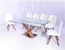 להב רהיטים היבואן - שולחן אוכל + שישה כסאות