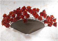 מנורת קיר ורדים אדומים - יהודה אוזן