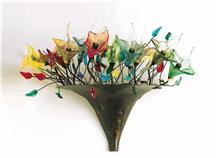 מנורת קיר פרחים