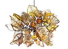 מנורה יוקרתית  בדוגמת עלים