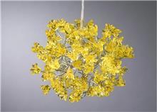 מנורת פרחים צהובים