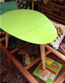 שולחן קפה ירוק
