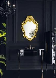ריהוט אמבטיה מצופה זהב