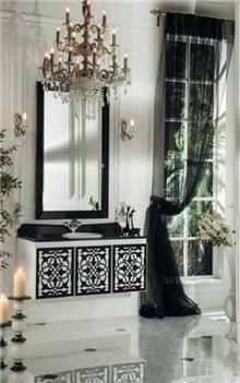 ריהוט אמבטיה שחור לבן