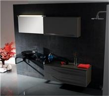 ריהוט אמבטיה אפור כהה