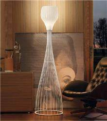 מנורה לבנה מעוצבת