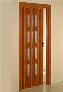 דלת אקורדיון חומה