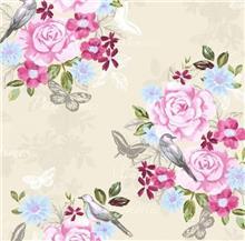 טפט עם פרחים